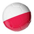Soccer ball. Flag of Poland