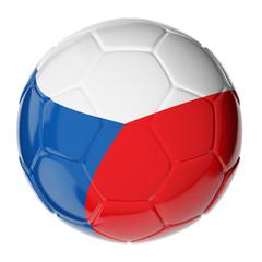 Soccer ball. Flag of Czech republic