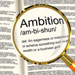 Ambition Definition Magnifier Showing Aspirations Motivation And