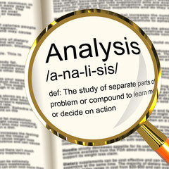 Analysis Definition Magnifier Showing Probing Study Or Examining
