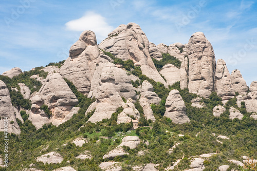Montserrat Mountain. Catalonia. Spain