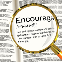 Encourage Definition Magnifier Showing Motivation Inspiration An