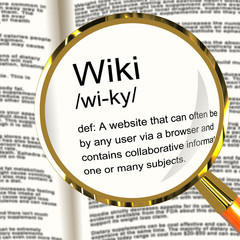 Wiki Definition Magnifier Showing Online Collaborative Community