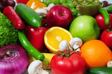 Fototapety fruits and vegetables background