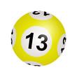 Tirage loto, boule numéro 13