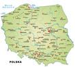 Inselkarte von Polen mit Hauptstädten