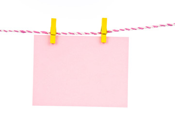 Wooden pin with paper hang
