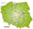 Übersichtskarte von Polen mit Hauptstädten