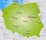 Internetkarte von Polen mit Nachbarländern