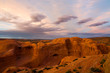 Sunset at Arches National Park in Utah