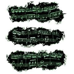 Partitura, notas musicales, marco
