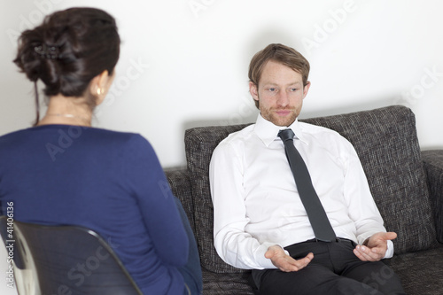 Businessman at psychoanalysis