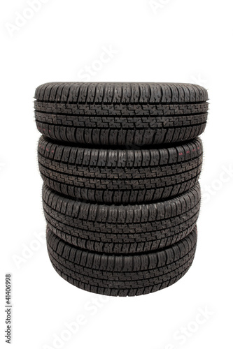 Piled tires