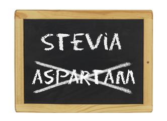 Tafel mit Stevia und Aspartam
