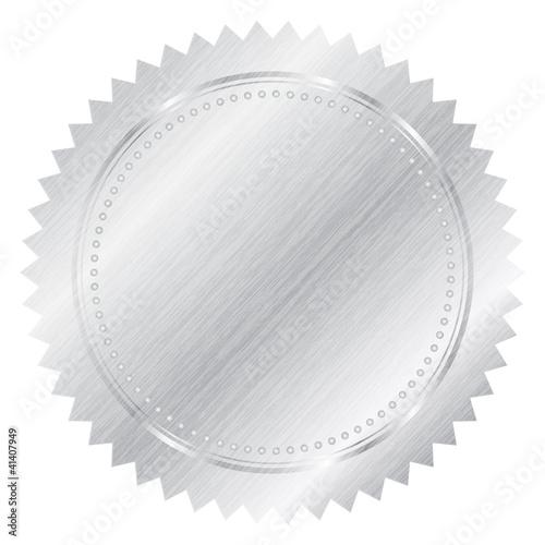 Silver seal - Vector