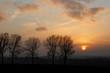 Sonnenuntergang in winterlicher Landschaft