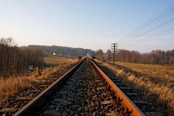 Eisenbahnstrecke im Winter