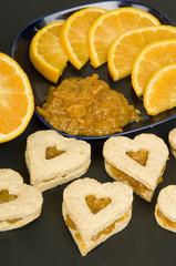 Luv orange Cuoricini all'arancio