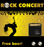 Rock concert free beer wallpaper
