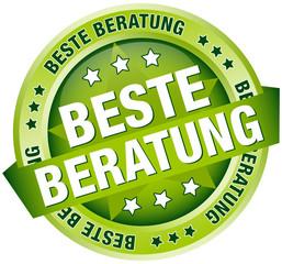 """Button Banner """"Beste Beratung"""" grün"""