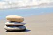 Galets sur le sable