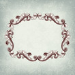 Vector vintage retro baroque border frame