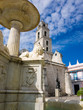 Fountain and ancient church on Old Havana