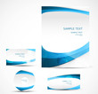 abstract new style template blue art vector