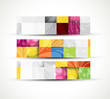 abstract new structure three header set banners vector