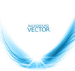 abstract wire blue shiny wave composition vector