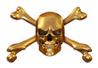 Golden Skull and Crossbones