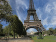 Eiffel Tower in Paris, view from Champs de Mars