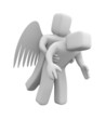 Angel saves man