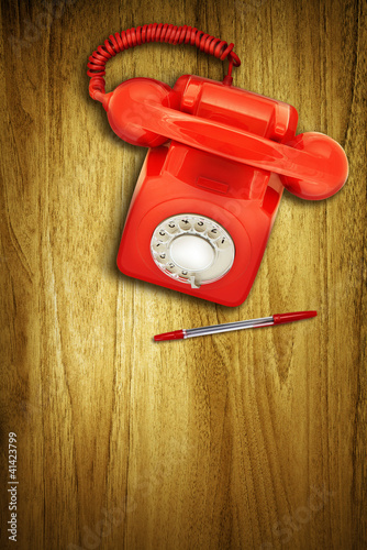 red phone red pen