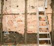 demolition before tiling in kitchen interior works