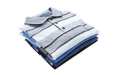 Pile of man polo shirts