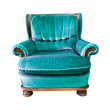 vintage armchair isolated with clipping path