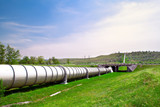 Industrial pipe with gas and oil - Fine Art prints