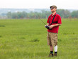 Man controls RC glider