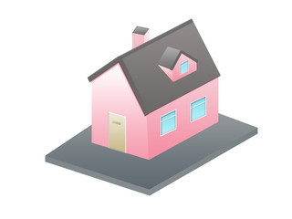Sweet little pink 3d house