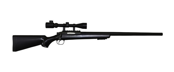 airgun rifle isolated with clipping path
