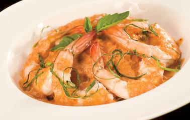 Close Up of Shrimp & Pasta bowl
