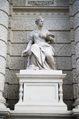 The Museum of art history facade sculpture in Vienna