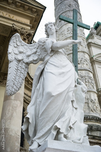 Angel statue near The St. Charles's Church, Vienna