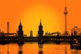 Fototapety Berlin Oberbaumbrücke Skyline