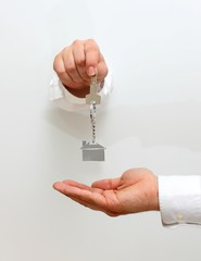 Taking new home key
