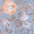 Seamless roses pattern / Vintage floral background