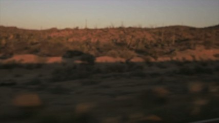 Car running desert