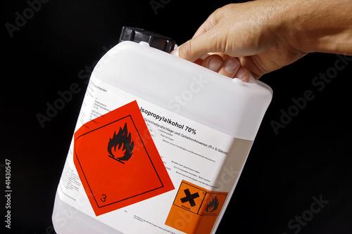 Leinwandbild Motiv Brennbare Flüssigkeit Gefahrgut