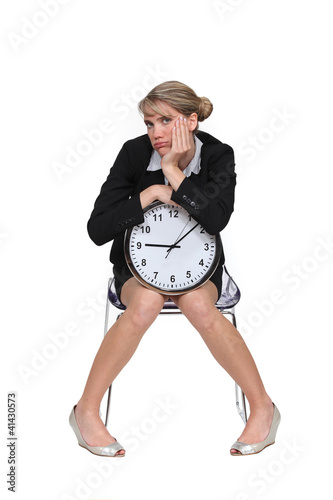 Woman fed up with waiting